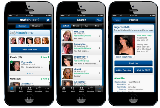 match dating mobile app