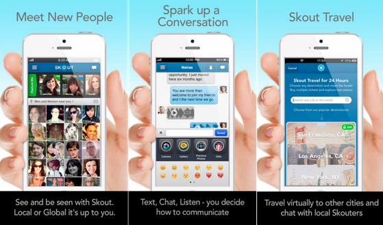 Screenshot of Skout  mobile app